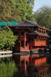 Restaurante chino en el lago Fotografía de archivo libre de regalías