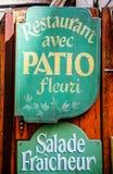 Restaurante com o pation em França Fotografia de Stock Royalty Free