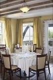 Restaurante com vista imagens de stock