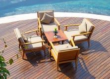 Restaurante com vistas da selva Foto de Stock Royalty Free