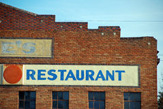 Restaurante da cidade pequena fotos de stock royalty free