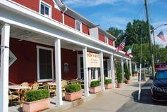Restaurante da cidade pequena imagem de stock royalty free