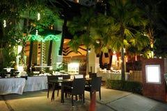 Restaurante da noite Imagem de Stock