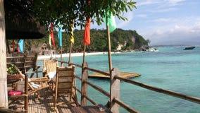 Restaurante da opinião da praia de Boracay Fotos de Stock