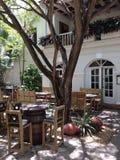 Restaurante da palma três da República Dominicana de Punta Cana Fotos de Stock
