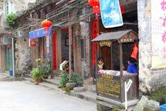 Restaurante da pizza em Xingping perto de Guilin em China Fotos de Stock