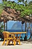 Restaurante da praia fotos de stock