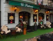 Restaurante da rua de Praga Fotografia de Stock