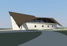 Restaurante dado forma navio ilustração royalty free