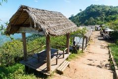 Restaurante de bambú en Chiang Mai, Tailandia Fotografía de archivo libre de regalías