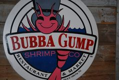 Restaurante de Bubba Gump Shrimp Company em New York City fotografia de stock