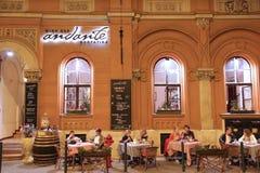 Restaurante de Budapest imágenes de archivo libres de regalías