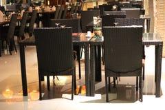 Restaurante de cena fino del hotel Fotos de archivo libres de regalías