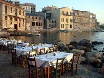 Restaurante de Chania Fotos de archivo