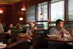 Restaurante de Clinton Station Diner foto de archivo