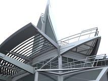Restaurante de cristal de la casa del edificio del barco de la dimensión de una variable de la nave stock de ilustración