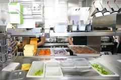 Restaurante de Fastfood Fotos de Stock