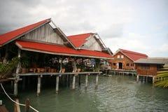 Restaurante de flutuação Imagens de Stock Royalty Free