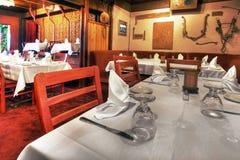Restaurante de jantar fino Fotografia de Stock
