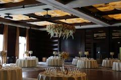 Restaurante de jantar fino do hotel Fotografia de Stock Royalty Free