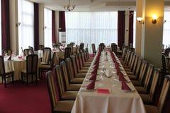 Restaurante de jantar fino do hotel Foto de Stock Royalty Free
