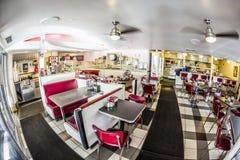 Restaurante de Johnny Rockets en la impulsión del océano en Miami Foto de archivo