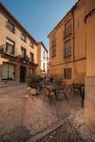 Restaurante de la calle en Toledo, España Fotos de archivo libres de regalías