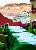 Restaurante de la calle, Lisboa Fotografía de archivo