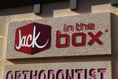 Restaurante de la comida de Jack In The Box Fast Imagenes de archivo