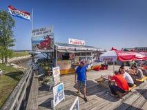 Restaurante de la costa de la cabaña de la langosta Imagenes de archivo