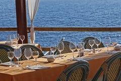 Restaurante de la línea de costa foto de archivo libre de regalías