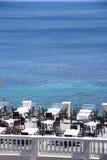Restaurante de la opinión del mar Imagen de archivo libre de regalías