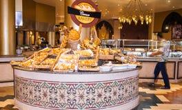 Restaurante de la panadería en todo inclusivo en Egipto Imágenes de archivo libres de regalías