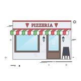 Restaurante de la pizza Imagenes de archivo