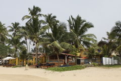 Restaurante de la playa de Sri Lanka Foto de archivo libre de regalías
