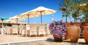Restaurante de la playa, taberna Fotografía de archivo libre de regalías