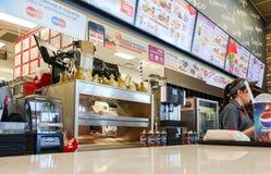 Restaurante de los alimentos de preparación rápida de Burger King Imágenes de archivo libres de regalías