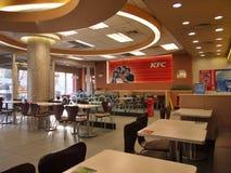 Restaurante de los alimentos de preparación rápida de KFC Imagen de archivo libre de regalías