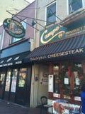 Restaurante de los Cheesesteaks de Philly de Campo imagen de archivo