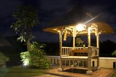Restaurante de los ricefields del Balinese Imagen de archivo