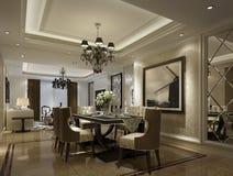 Restaurante de lujo en Shangai, apartamentos de alto grado Imágenes de archivo libres de regalías