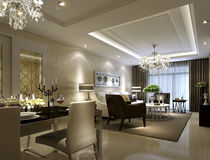 Restaurante de lujo en Shangai, apartamentos de alto grado stock de ilustración