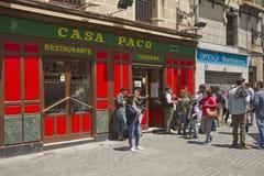 Restaurante de Madrid Foto de archivo