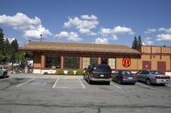 Restaurante de Mcdonald Imágenes de archivo libres de regalías
