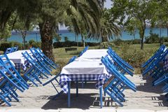Restaurante de Mediteranian fotos de stock