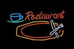 Restaurante de néon Fotos de Stock Royalty Free