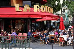Restaurante de Paris Imagem de Stock Royalty Free