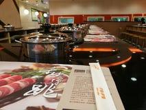 Restaurante de Pekín Hotpot fotos de archivo libres de regalías