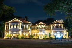 Restaurante de Phuket de la mansión del gobernador azul del elefante y escuela el cocinar Fotos de archivo libres de regalías