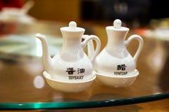 Restaurante de Shangai en la noche Imagen de archivo libre de regalías